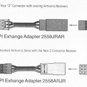 MAXX Airt. Servo to Hitec/JR Rx Exchange Adapter-0