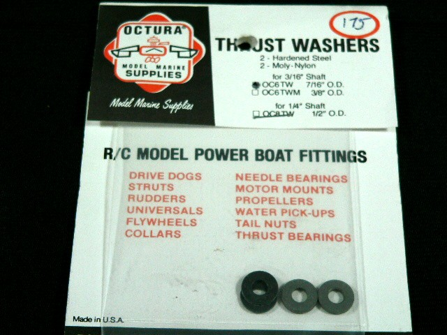 Octura Thrust Washer Set 3/16 in. ID x 7/16 in. OD-0