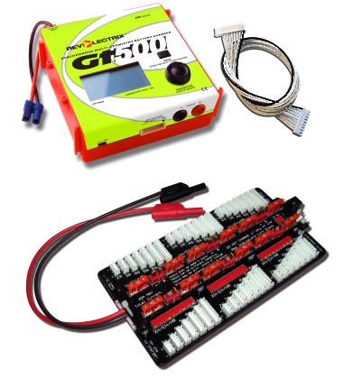 Revlectrix GT500 (STD JST-XH balance port) 500W Multichemistry Battery Charger with EC5 input cable-0