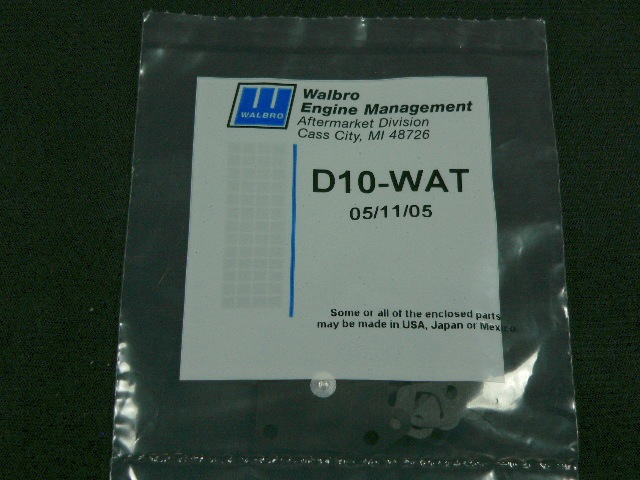 Walbro Gasket/Diaphragm Kit for Wt-257-1 Carb-0